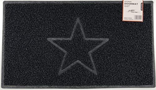 Nicoman tapete para Puerta de Exterior, Zona húmeda, Ducha, Piscina, Barco, Piso de Drenaje Hueco, Opt1【Black】, Opt2-STAR【75x44cm】