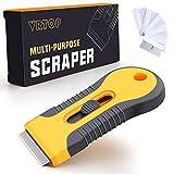VRTOP Grattoir Plaques Induction Grattoir Premium Verre Vitrocéramique Grattoir Nettoyant pour Plaque Vitrocéramique 6 pièce Remplacement de rechange Vitres Miroir Sol Nettoyage