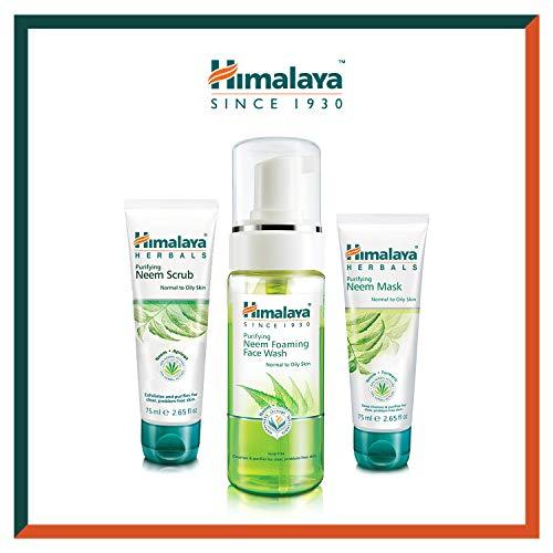 Himalaya Neem Face Wash Foam, Scrub and Mask - Solution naturelle sans savon pour hommes et femmes - Aide à minimiser, contrôler et prévenir l'acné - Lot de 3 (Total Acne Solution Set-Foam)