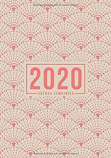 Agenda semainier 2020: Du 1er janvier 2020 au 31 décembre 2020 : aperçu hebdomadaire et..
