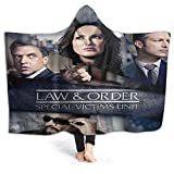Wabaodan Law and Order SVU Tonight Cast Soft Hooded Blanket Coverall Cape Cloak 50'' X40