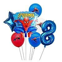バルーン 1-9年スパイダーマンヘリウムバルーンスパイダーマンスーパーヒーロー誕生日パーティーバルーン装飾 (Color : 8)