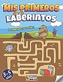 Laberintos para niños 3-5 años: Rompecabezas niños 3,4,5 años educativos   Libro de actividades juegos de logica educativos   Aprendo en casa puzzles