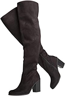 34d2eb36dd8 J. Adams Knee High Stacked Heel Boot – Comfortable Cushioned Dress High Heel  Shoes –