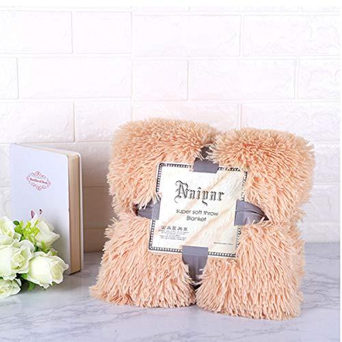 RAQ Dekens voor bedden Super Zachte Fuzzy Faux Elegant Gezellig met pluizige gooi deken bed sprei vel grote Chunky gebreide deken 160x200cm