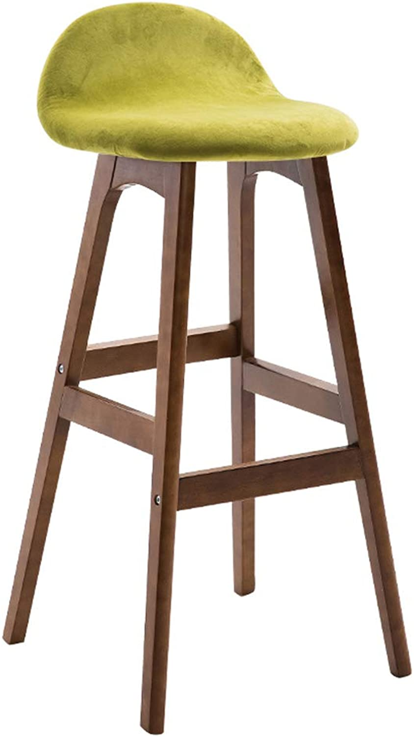 Bar Chair Solid Wood bar Stool Stylish high Stool bar Wooden Chair Table Back bar Stool Tea Shop high Chair Durable (color   B)