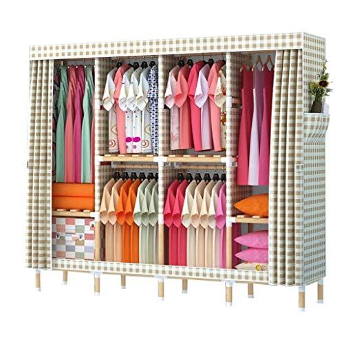 LJP Armario portátil organizador de armario, estantes de armario rápido y fácil de montar para almacenamiento de ropa (color: B)
