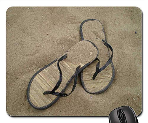 N\A Alfombrilla para ratón - Sandalias Arena Calzado de Playa Chanclas Arena