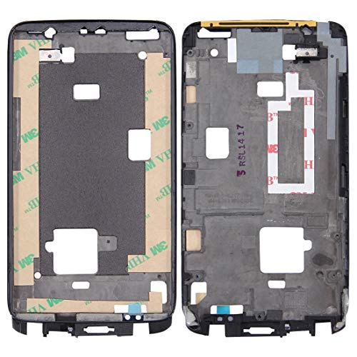 BEIJING ♋ SCREENCOVER+ Placa de Bisel de Marco LCD de la Carcasa Delantera para HTC One X, Reemplazo LCD Placa Placa ATRÁS BIELEL (Color : Negro)