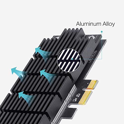 TP-Link Archer T6E WLAN PCI-E Netzwerk Karte AC1300 drahtloser Dual Band Express Adapter (Broadcom Chipsatz, 867MBit/s-5GHz, 400MBit/s-2,4GHz, 802.11ac/a/b/g/n, geeignet für Windows 10/8.1/8/7/XP)