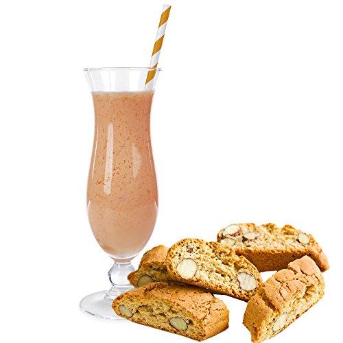 Cantuccini Geschmack Proteinpulver Vegan Proteinpulver mit 90% reinem Protein Eiweiß L-Carnitin angereichert für Proteinshakes Eiweißshakes Aspartamfrei (1 kg) (200 g)