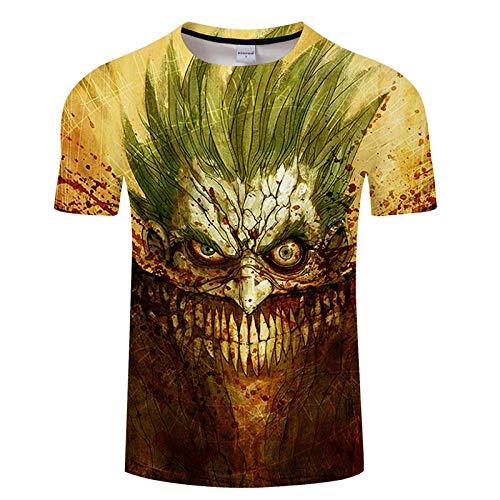 Camiseta Hombre Camisas 3D Imprimir Fitness Transpirable Culturismo Camisetas Verano Casual Secado rápido Hombre Asiáticoxxxl Txkh1361