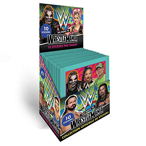 Topps WWE Stickers 2021 - The Road to Wrestlemania - Box mit 36 Paketen