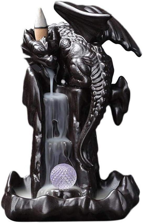 GPPZM Incense Holder Ceramics Max 67% OFF Burner Backflow Co Ranking TOP15 Dragon
