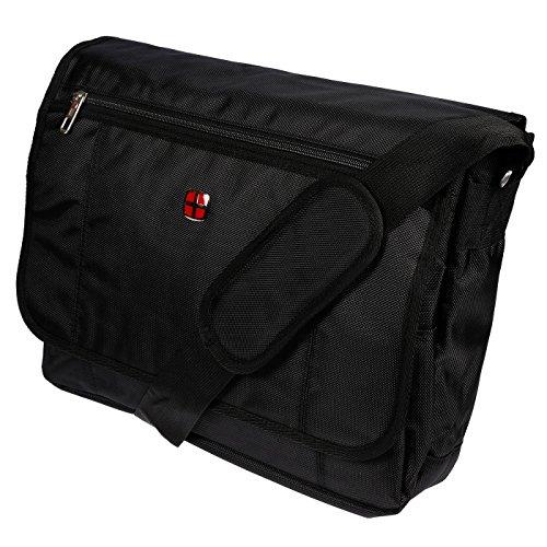 Christian Wippermann XXL Notebooktasche Laptoptasche Flugbegleiter Messenger Arbeitstasche Umhängetasche