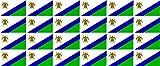 Mini Aufkleber Set - Pack glatt - 33x20mm - Sticker - Lesotho - Flagge - Banner - Standarte fürs Auto, Büro, zu Hause & die Schule - 24 Stück