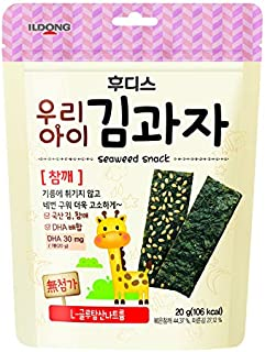 Ildong Seaweed Sesame Snack, 20g (packaging may vary)