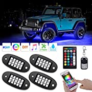 AMBOTHER RGB LED Rock Lights with Remote Music Mode