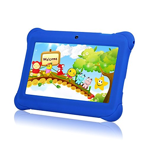 """Tagital 7"""" T7K Quad Core Android Kids Tablet, with Wifi and Camera and Games, HD Kids Edition with Kid Mode Pre-Installed (Blue)"""