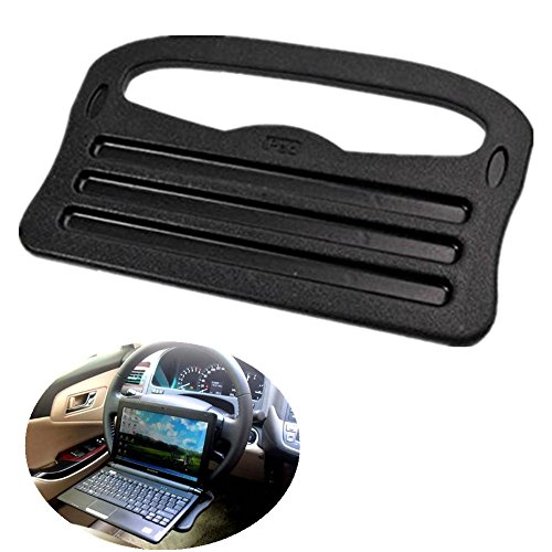 Chytaii Car Computer Laptop/Eating Steering Wheel Desk Auto Backseat Portable Foldable Table Drink Food Cup Tray Stand Table Eating Dining Table Organizer PC Mount