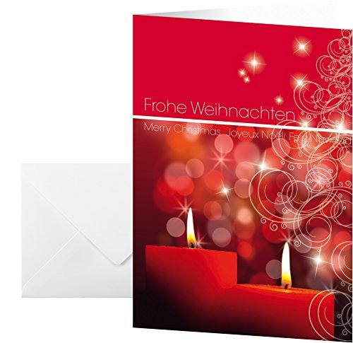 SIGEL DS014 rotes Weihnachts-Karten Set mit Umschlag, A6, 10 Stück - weitere Designs