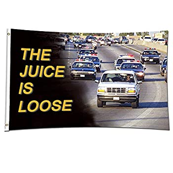ENMOON The Juice is Loose Dorm Flag Collection  3x5ft Vivid Color  HD Printing 150D Poly Two Brass Grommets for Dorm College