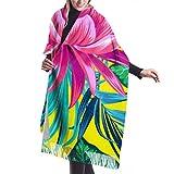 Bufanda de viaje de 27'x77 Hermosa bufanda de loto floreciente Bufanda de cachemir de diseñador de viajes Elegante manta grande y cálida