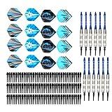 TANKE Dardo suave de seguridad Set de aleación de aluminio Dardo Rod plástico punta de dardos equipos 12 unids 265g