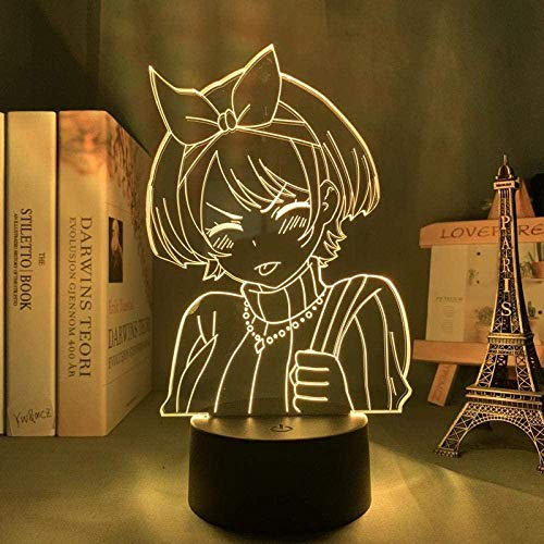 Tatapai 3D ilusión luz led noche anime alquiler un amigo Sarashina Ruka para guardería dormitorio decoración regalo de cumpleaños manga kanojo