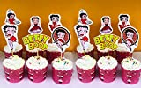 12pcs Betty Boop Cupcake Toppers, Handmade , For Children Kids Birthday Party Cupcake Decoration