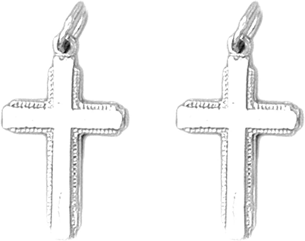 Jewels Obsession Latin Cross Super-cheap Earrings 14K Gold Cro NEW before selling ☆ White