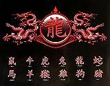 Chinese Writing - Zodiac, Dragon - Mini Poster Chinesische
