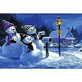 Rompecabezas de Madera Puzzle de 1000 Piezas Juego de Diversión Familiar para Regalo Decoración Hogar Juguetes de Rompecabezas para Niños Niñas(75x50 cm) Monigote de Nieve