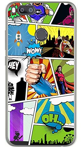 Tumundosmartphone Funda Gel TPU para XIAOMI MI 5X / MI A1 diseño Comic Dibujos