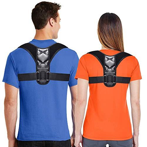 Aptoco Correcteur de posture réglable pour homme et femme - Soutien du haut du dos - Soulagement de la douleur du cou, du dos et des épaules