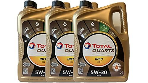 3 x olio motore Total Quartz Ineo ECS 5W-30 5L