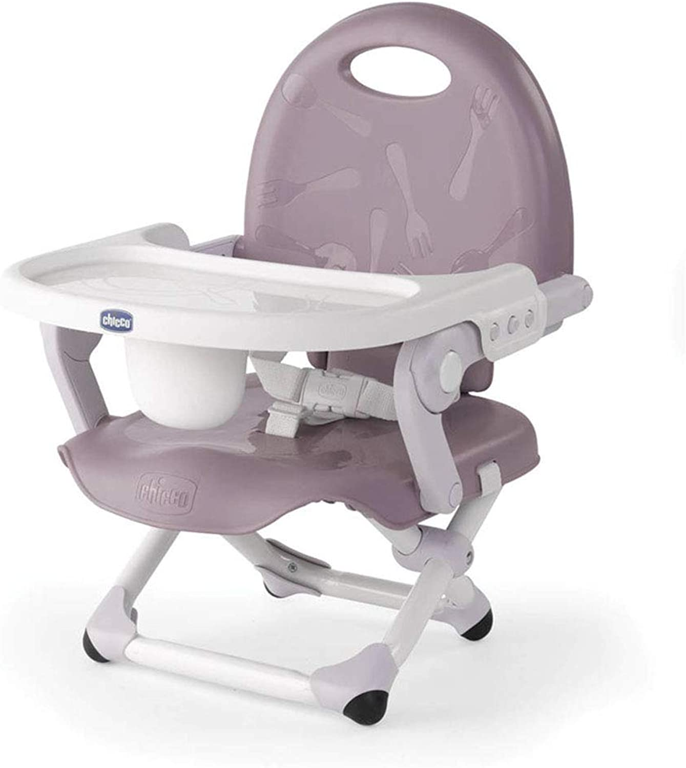 High Chair Baby Dining Chair Multi-Function seat Learning Chair Portable Folding (color   Purple, Size   32  38  49cm)
