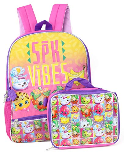 Moose Girls' Shopkins Backpack with Lunch Kit, Pink, One Size
