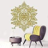 Geiqianjiumai Böhmische indische Wandtattoos Mandala Muster Yoga Studio dekorative Schlafzimmer Boho Stil Applique 50,4 x 50,4 cm
