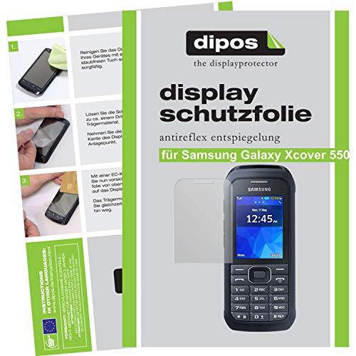 dipos I 2X Schutzfolie matt kompatibel mit Samsung Galaxy Xcover 550 Folie Bildschirmschutzfolie