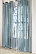 Rioma Brisa - Cortina visillo, tejido de poliéster y acabado liso, Turquesa, 200 x 270 cm