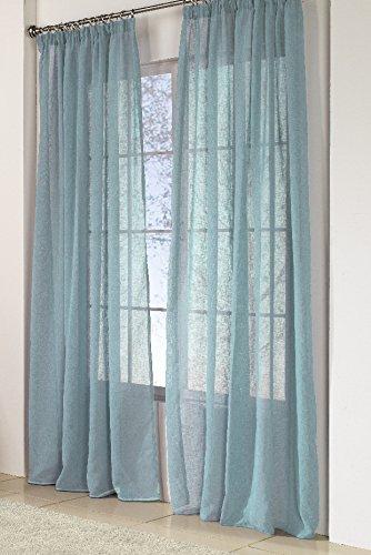 Rioma Brisa - Cortina visillo, Turquesa, 200 x 270 cm