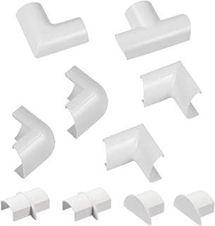 D-Line Mini Cable Trunking Clip-Over Accessory Multipack   Join Multiple Lengths of 30x15mm Mini Cable Cover   10 Piece El...