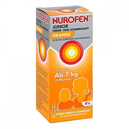 Nurofen Junior Fieber- und Schmerzsaft Orange 4%, 100 ml Lösung