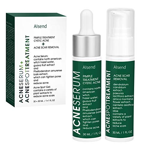 Cystic Acne Treatment – AISend Acne Spot Treatment for Face,Acne Serum with Tea Tree Oil,Acne Scar Treatment for Face And Body,Prevent Future Breakouts - Pimple Cream,1 fl.oz/30Ml (White)
