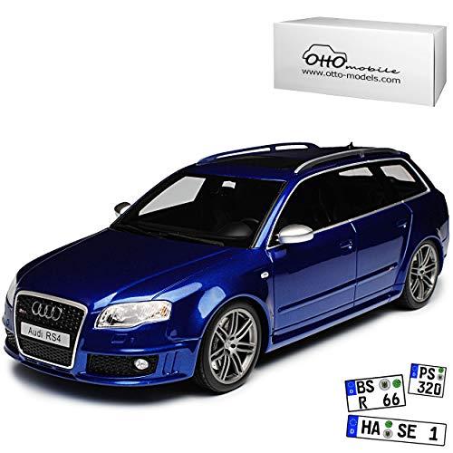 A-U-D-I A4 B7 RS4 Avant Kombi Sepang Blau 2004-2008 Nr 785 1/18 Otto Modell Auto
