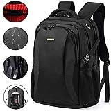 SHENETS 'Rucksack Laptop Hülle 18,4Wasserdicht Waterproof Laptop Backpack Rucksack mit genommen USB Diebstahlsicherung schwarz