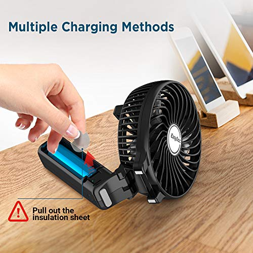 USB-Ventilator EasyAcc Handventilator tragbar Bild 4*