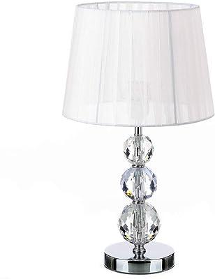 Lola Home Lámpara de mesita de Noche Moderna Plateada de ...