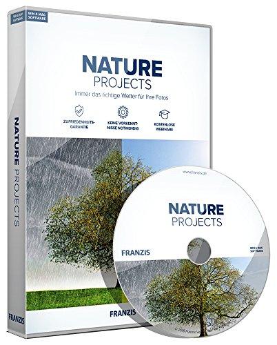 FRANZIS NATURE projects, Spezialsoftware für Wettereffekte 2018 Für bis zu 3 Geräte zeitlich unbegrenzt Fotosoftware für Windows PC & Mac OS X Disc Disc